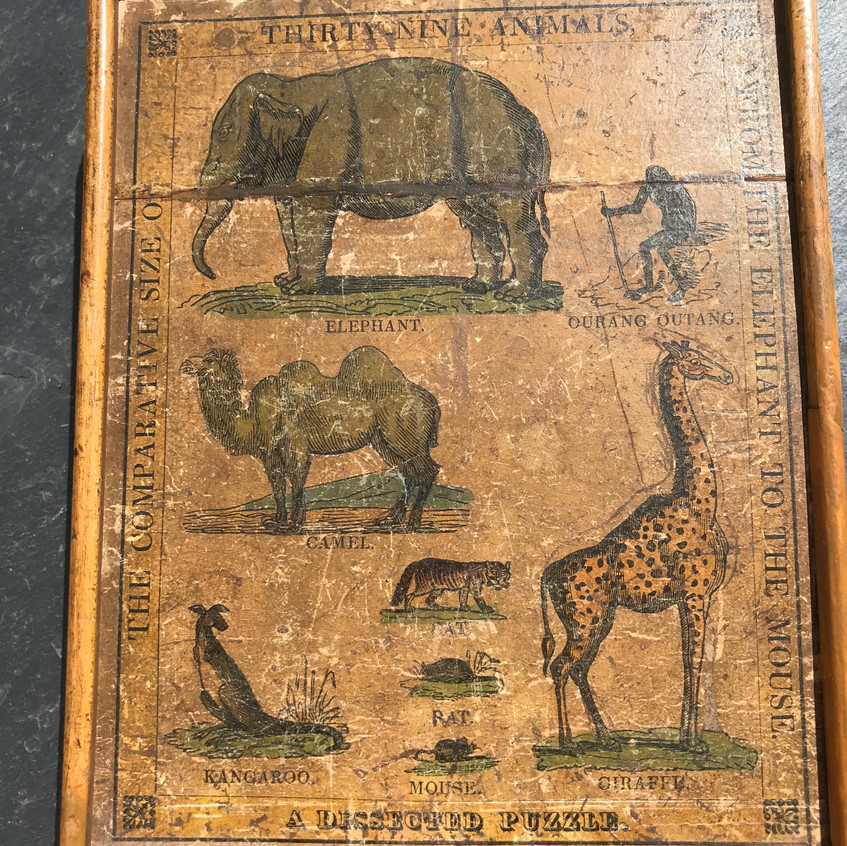 Antique treen jigsaw puzzle for sale opus antiques uk5