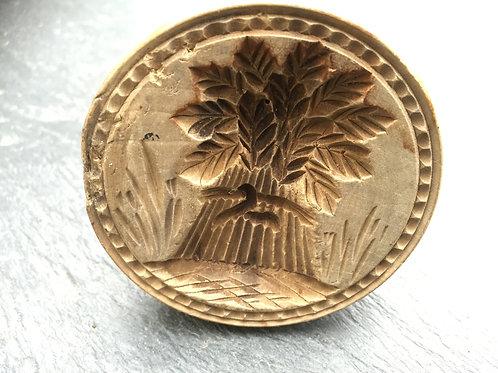 Antique Treen Butter Stamp