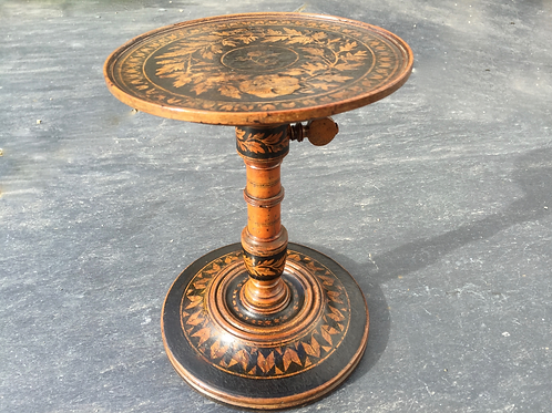 An Unusual Antique Adjustable Candle Stand