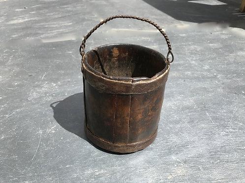 Antique Fruit Wood berry Bucket