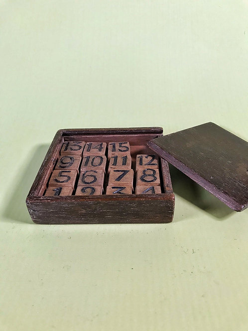 Antique Boxed Game - wooden number puzzle