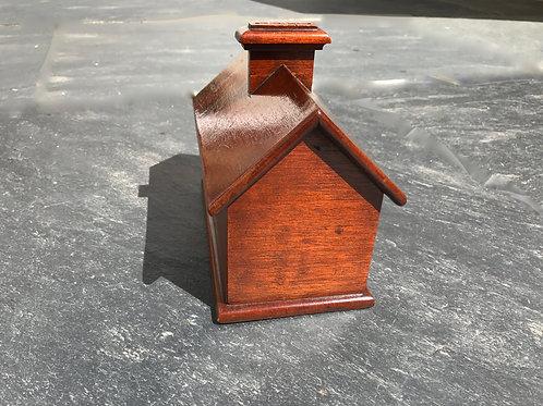 Antique Mahogany House Money Box
