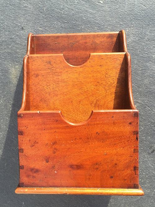 Antique Mahogany Stationery Holder