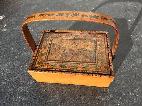An Early 19th Century Tunbridge Ware Sewing Basket