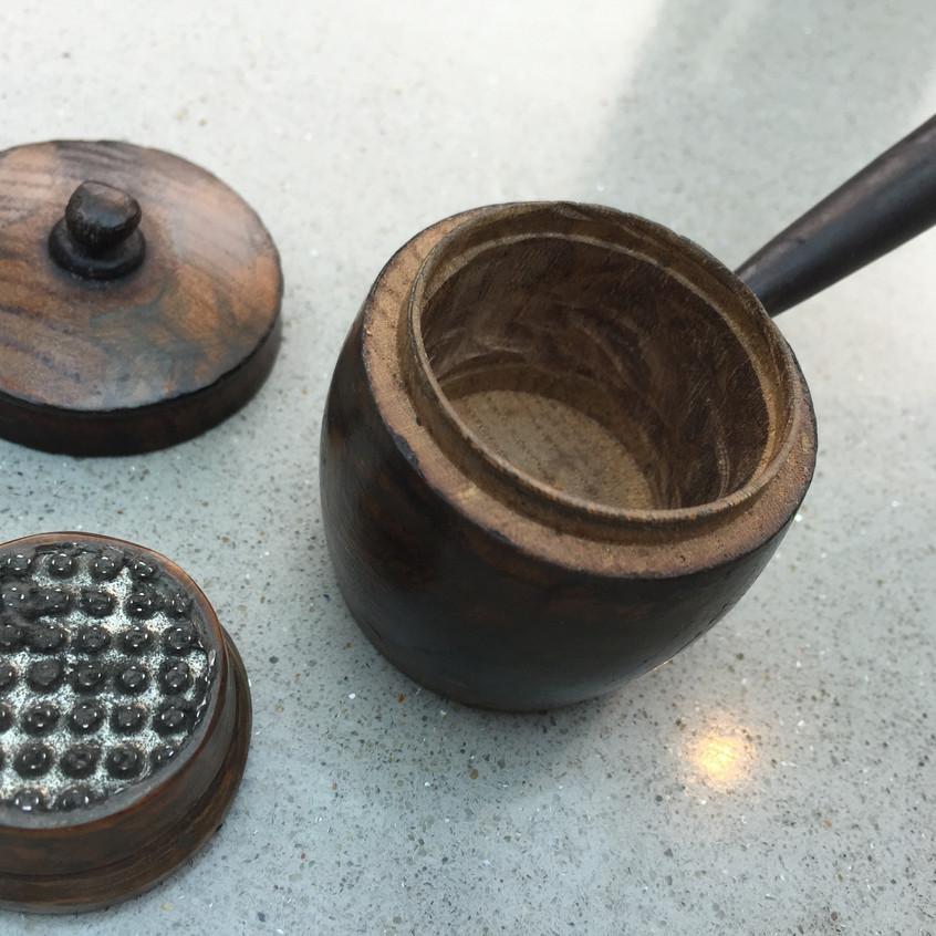 Antique Nutmeg grater - Saucepan shape