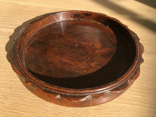 Antique Mahogany Wine Coasterr