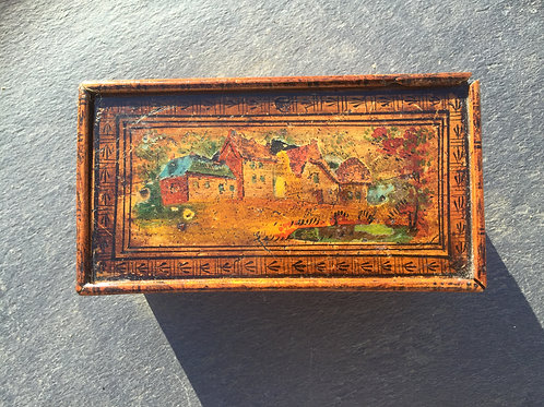 An Early 19th Century Painted Tunbridge Ware Box