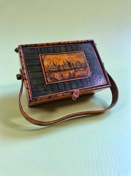 Antique Tunbridge Ware  Sewing Box - Royal  Pavillion