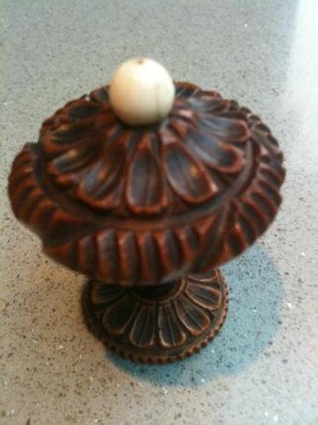 Antique coquilla nut pomander,