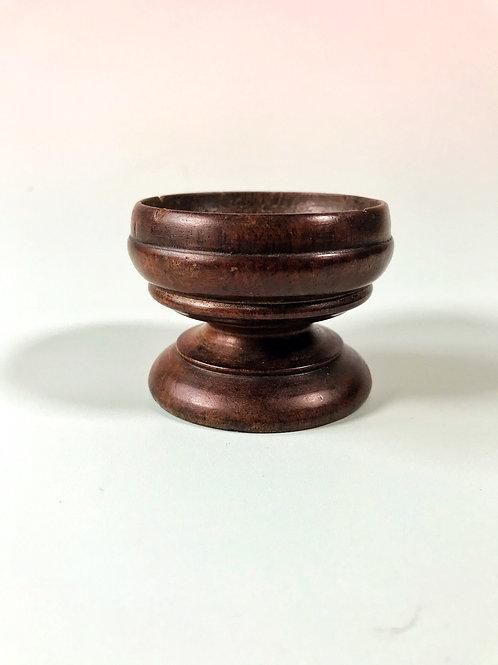 An Antique Treen Salt