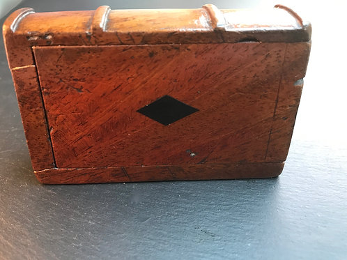 Antique Book Snuff Box - Carved spine