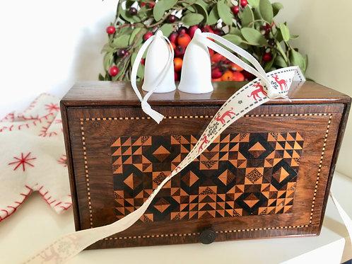 Antique Sewing/Jewellery Box - Tunbridge Ware