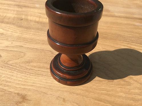 Antique Treen Boxwood Salt