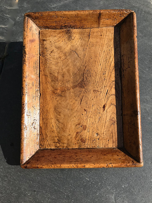 An unusual antique treen platter/tray