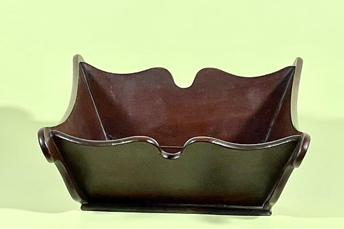 A Georgian Mahogany  Shaped Deep Tray/Container