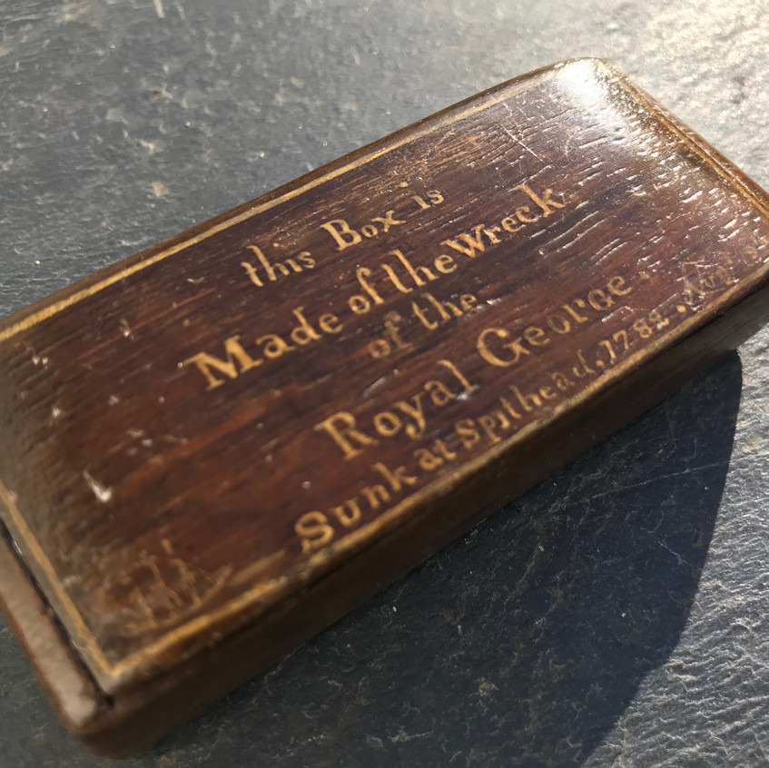 Antique treen snuff box book, for sale, Opus Antiques UK1