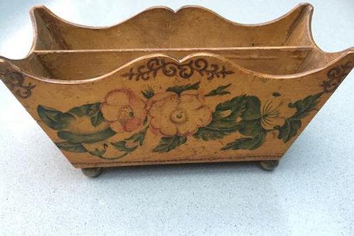 A REGENCY  Tunbridgeware'letter rack