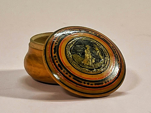 Antique Tunbridge Ware Pot