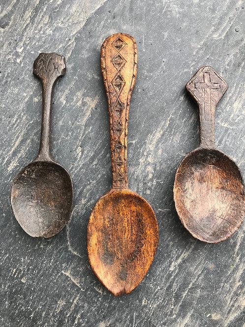 Antique Treen Spoons