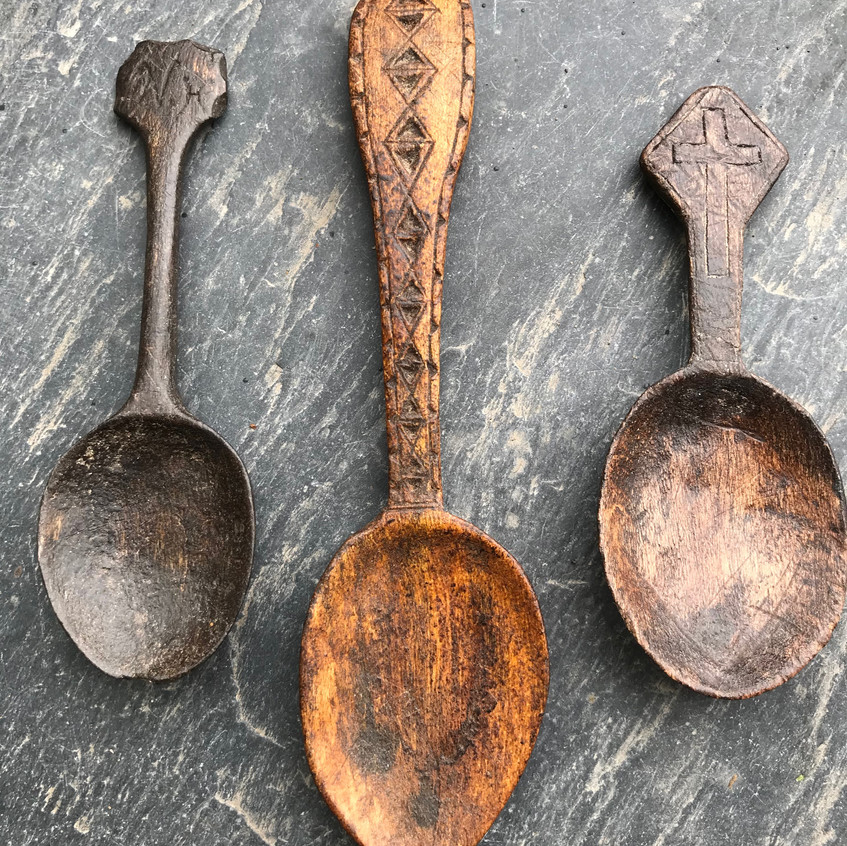 Antique treen spoons for sale, Opus antiques UK5