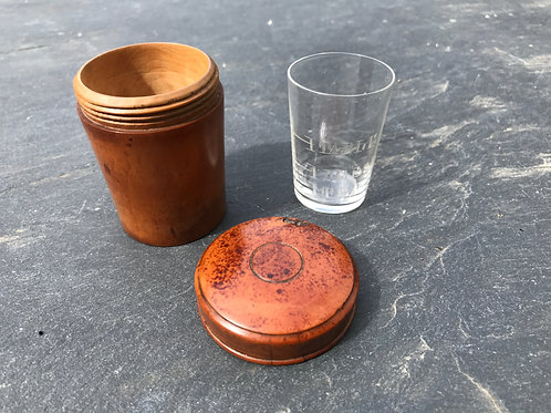 Antique Boxwood Case and Glass Measurer