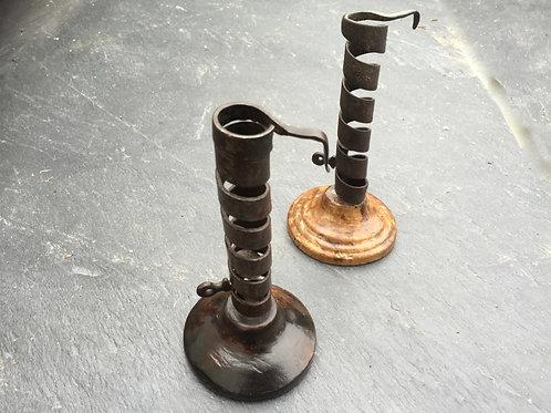 An 18th century Spiral Candlestick