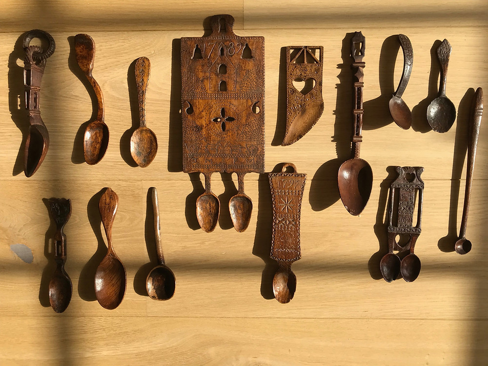 Antique treen Spoons for sale Opus Antiques UK