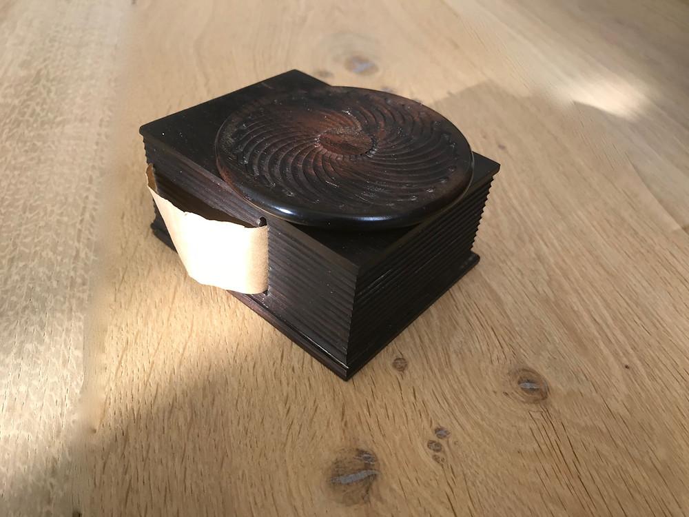 Antique treen tape or ribbon dispenser for sale Opus Antiques UK