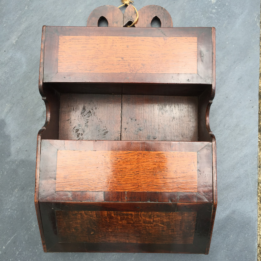 Antique candle box+ double pockets