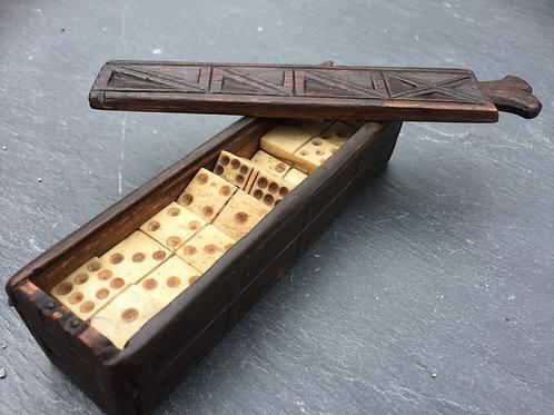 Antique Prisoner of War  Dominoe Box