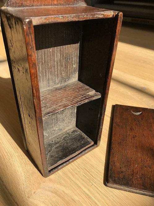 A Small Antique Oak Tinder Box