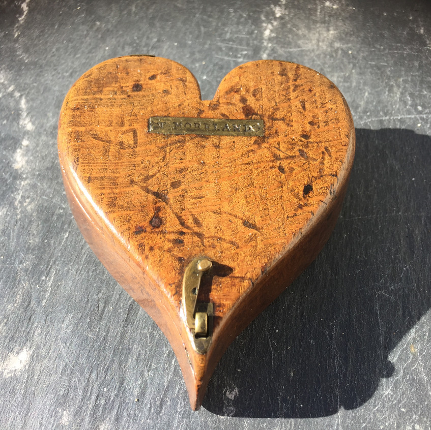 Antique treen tinder box