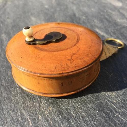 Antique Treen Tape Measure