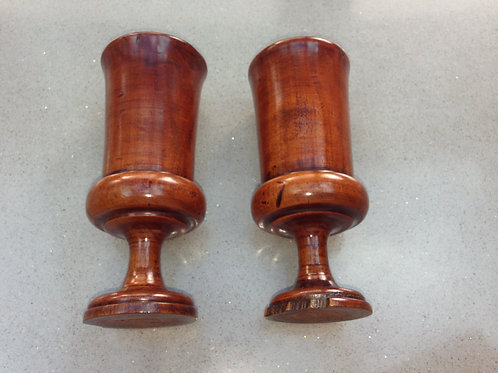 A Pair of Antique  Wood Salts