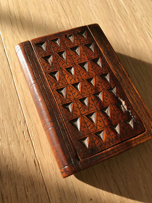 Antique Chip Carved Book Box