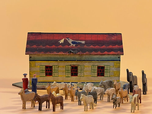 A Small Folk Art Noah's Ark