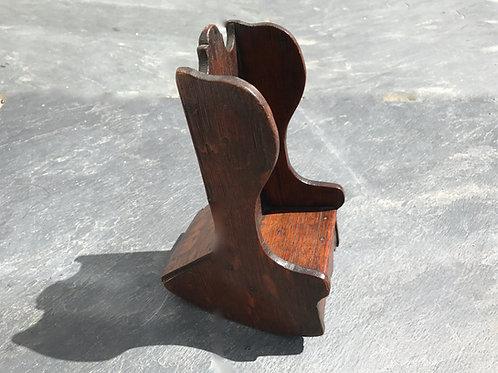 Antique Oak Mini Lambing Chair