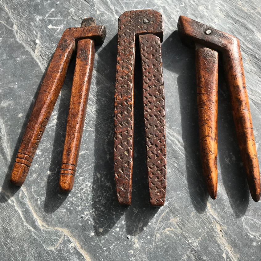 Antique treen nutcrackers for sale opus antiques UK