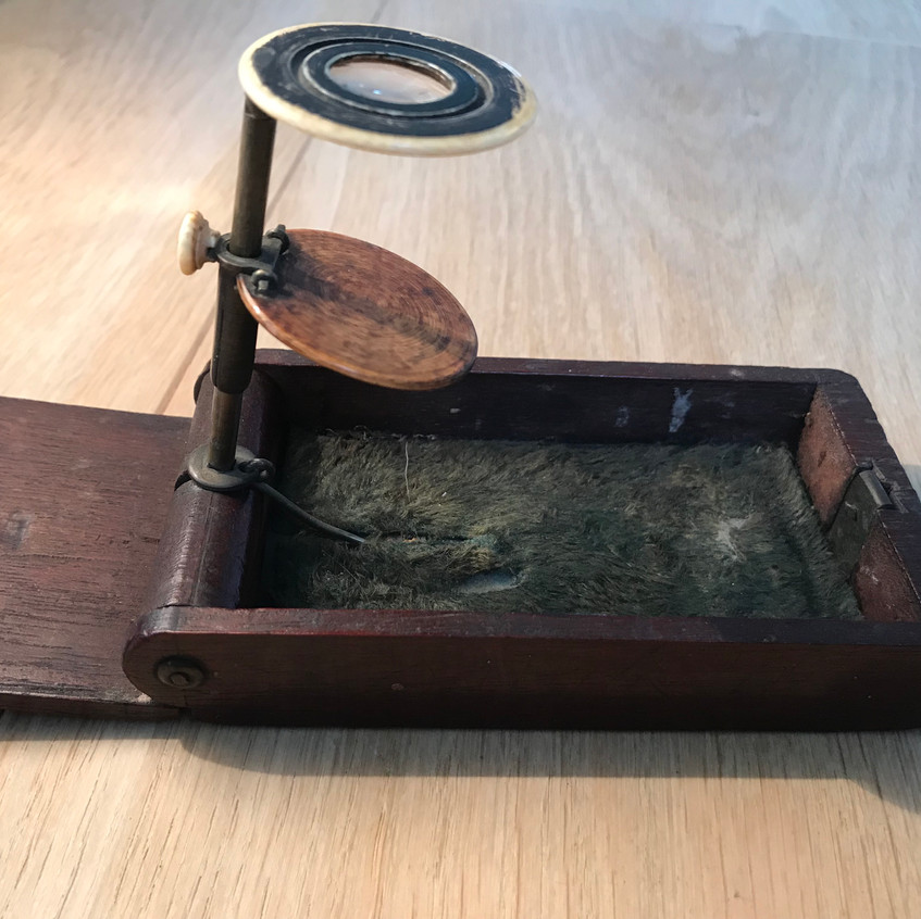 antique pocket microscope for sale Opus