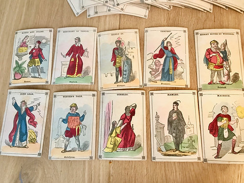 Antique Shakespeare Playing Cards