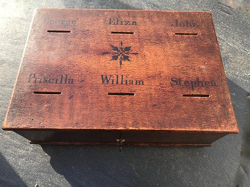 Antique Oak Savings Box