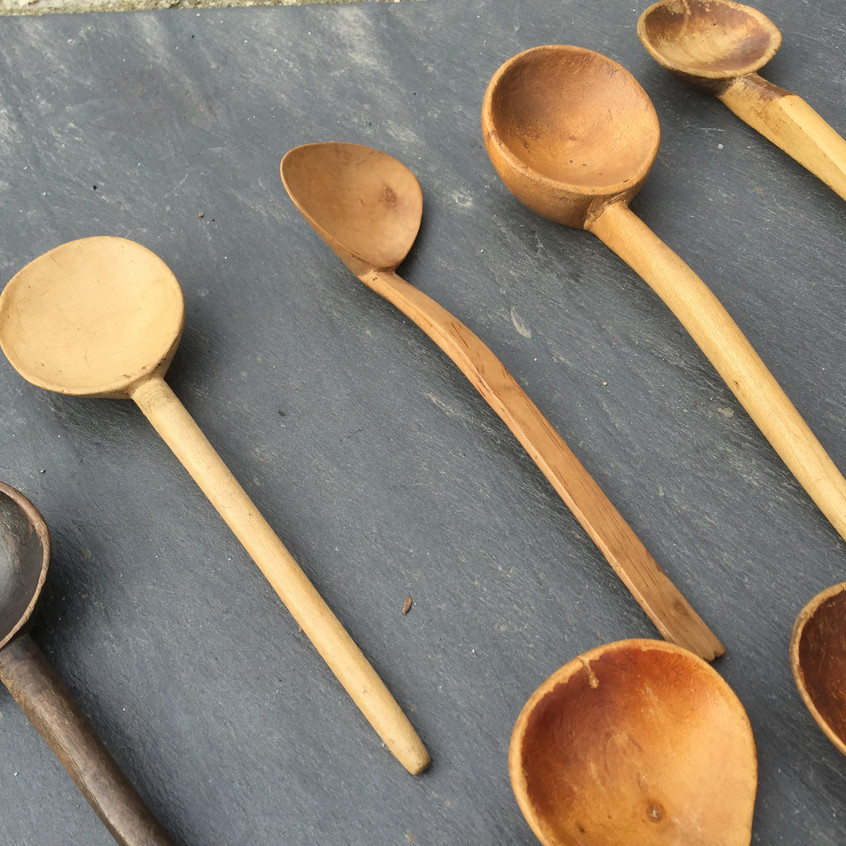 Antique Welsh Cawl Spoons