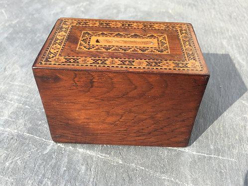 Antique Tunbridge Ware Money Box