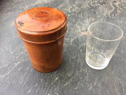 A Small Antique  Boxwood Case - for a glass measurer