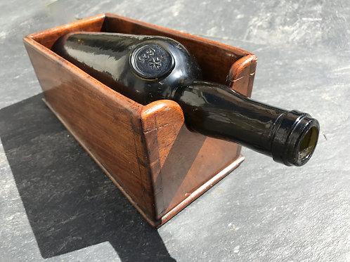 Antique Mahogany Wine Slope/ Cradle