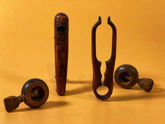 Antique Treen Nutcrackers