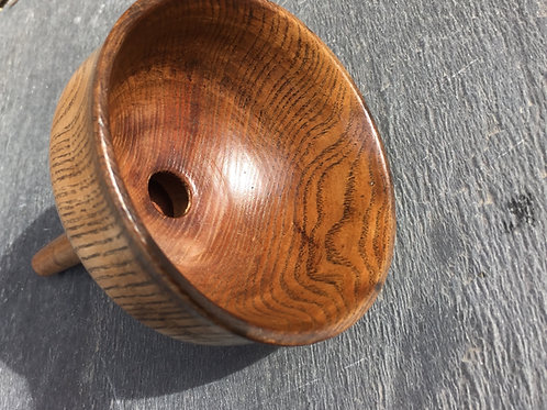 An Antique Treen Ash Wood Funnel