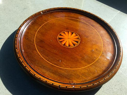 A Small 19th Century Antique Treen Georgian Tray