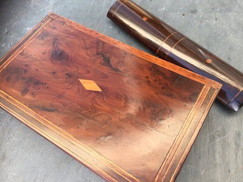Antique Yew Wood Book Box