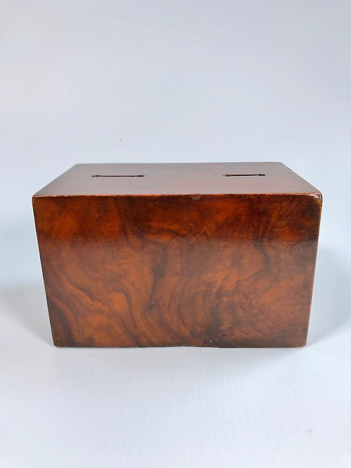 Antique Walnut Money Box